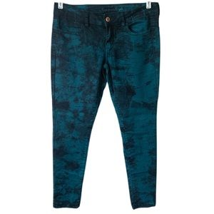 American Eagle Outfitters Tie Dye Jegging 10 Teal